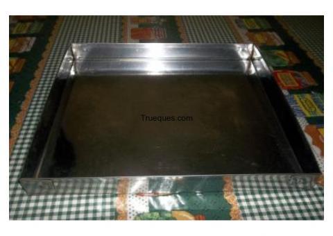 5 bandejas de panadería de acero inoxidable 40x35x3