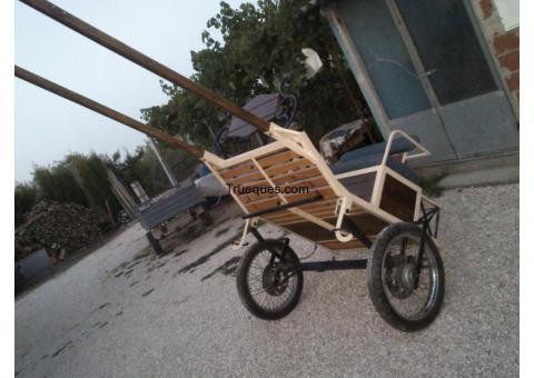 Carro de caballo por un quad