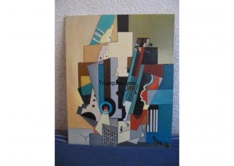 6 cuadros modernos pintados óleo por escucho ofertas