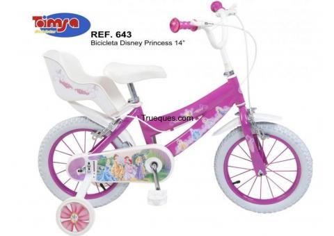 Bicicleta para niña 3 a 5a princesas disney rodado 14 por bicicleta para niña de 6 a 8a en similares