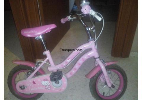 Bicicleta hello kity por lo que sea