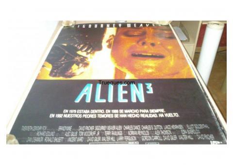 Cartel de cine alien 3 por