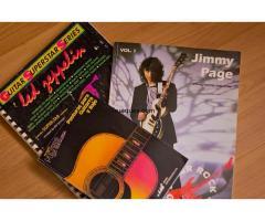 2 libros tablaturas y 1 de acordes de guitarra por algo antiguo