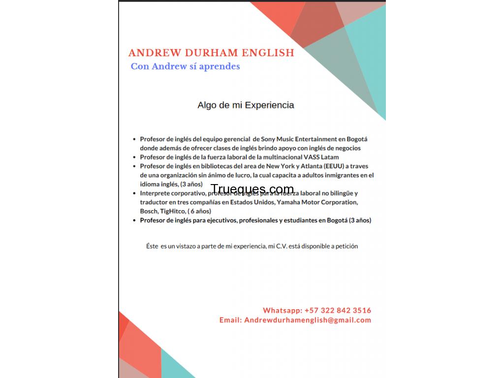 Clases de inglés nativo x creación de página en wordpress - 2/3