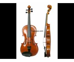 Violin, con su arco y estuche