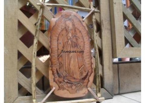 Virgen de guadalupe pirograbada