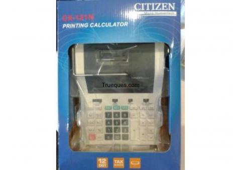 4 calculadoras contab. t/medio. citizen cx121 12dig